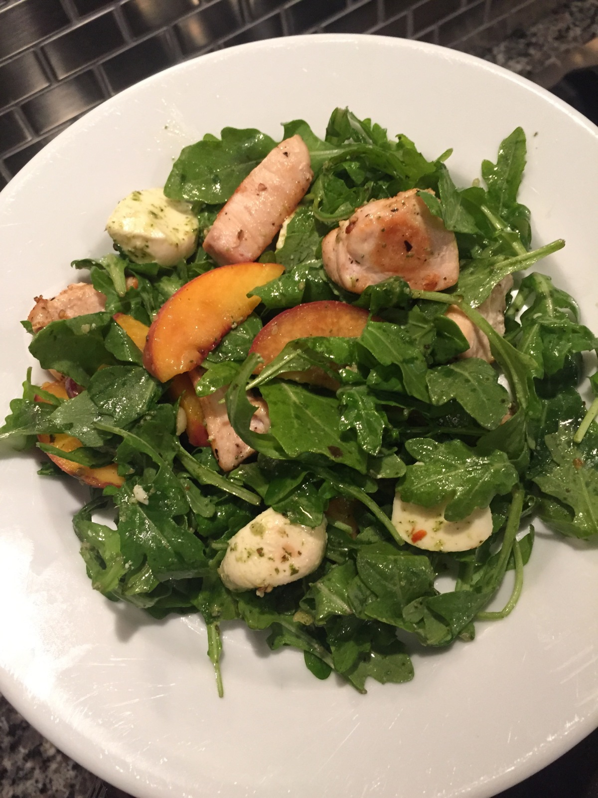 Feeling Peachy? Try a Peach Arugula Salad